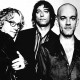 Musical group, REM.  Michael Mills, left,  Peter Buck and Michael Stipe. NO CREDIT